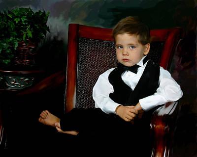 Digital Art - Digital Art Painting Of My Son by Anthony Jones