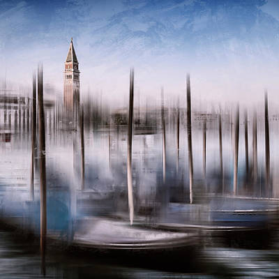 Pop Art Photograph - Digital Art Venice St Marks Campanile And Grand Canal by Melanie Viola