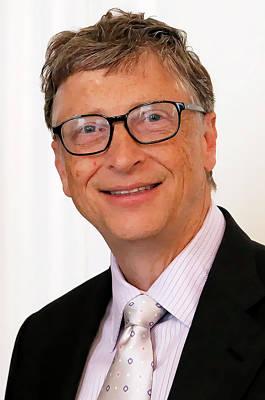 Digital Bill Gates Art Print