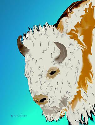 Digital Art - Digital Bison 3 by Kae Cheatham