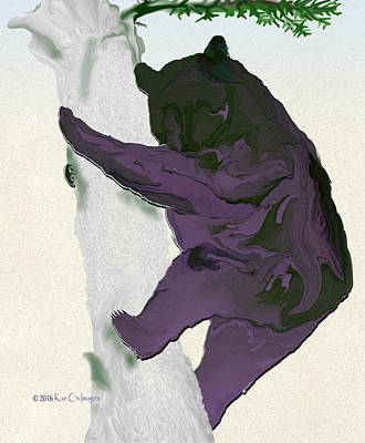 Digital Black Bear Art Print