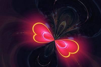 Digital Butterfly Photograph - Digital Butterfly by Jeff Swan