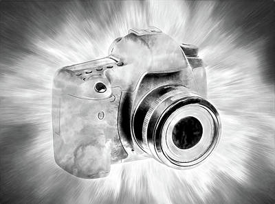 Photograph - Digital Camera Art Bw by Athena Mckinzie