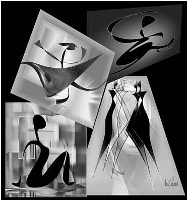 Digital Art - Digital Collage Series   135 by Iris Gelbart