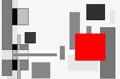 Digital Cubism Art Print