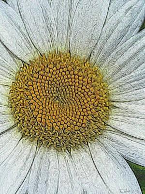 Photograph - Digital Daisy 3 by Teresa Wilson