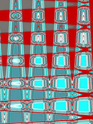Digital Art - Digital Distortion - Basket Weave by Shawna Rowe