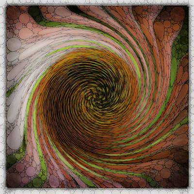 Digital Echinacea 1 Art Print