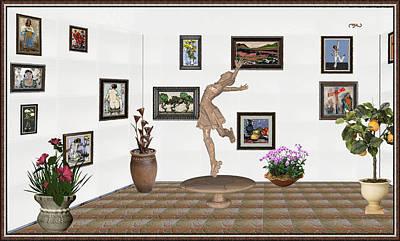digital exhibition _ A sculpture of a dancing girl 14 Art Print