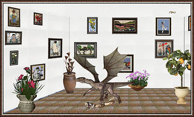 Post Impressionism Mixed Media - digital exhibition _ Dragon and snake by Pemaro