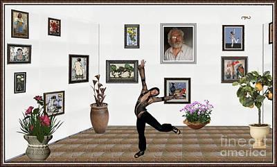 Digital Exhibition  _  Posing     Erotic Acrobatics  3 Art Print by Pemaro