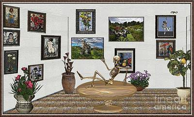 Mixed Media - Digital Exhibition _ Relaxation In The Afterlife by Pemaro