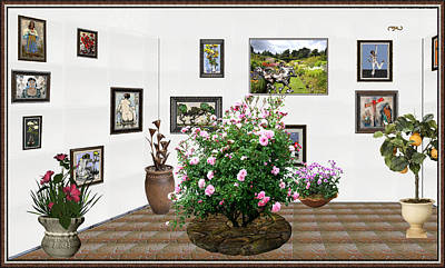 Post Impressionism Mixed Media - Digital Exhibition _ Roses Blossom 22 by Pemaro