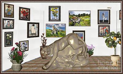 Digital Exhibition _  Statue Of A Tiger Original