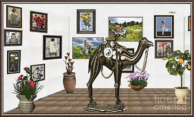 Camel Mixed Media - digital exhibition _ Statue of camel by Pemaro