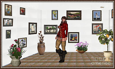 Mixed Media - digital exhibition 32  posing  Girl 31  by Pemaro
