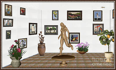digital exhibition   sculpture of  posing  Girl 32  Original by Pemaro
