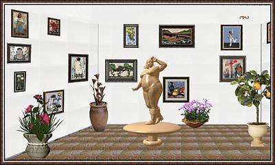 digital exhibition  Statue 23 of posing lady  Original by Pemaro