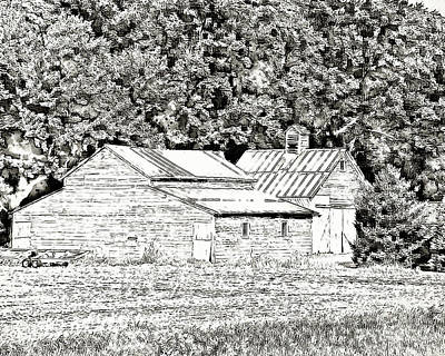 Photograph - Digital Farm Painting by Kathy M Krause