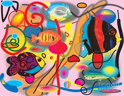 Clown Fish Digital Art - Digital Fish by Christine Perry