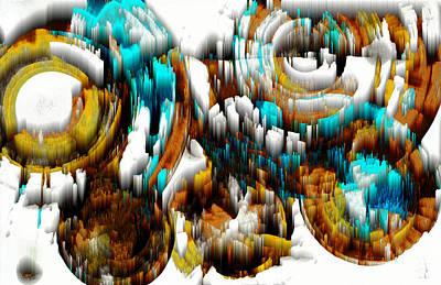 Digital Art - Digital Ghost Sphere 992.042212scwscw by Kris Haas