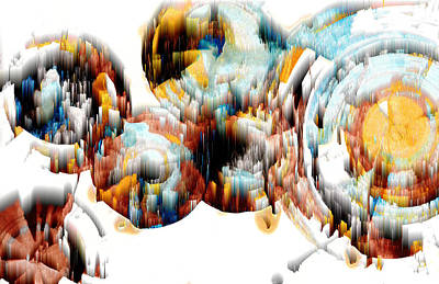 Digital Art - Digital Ghost Sphere 993.042312wh by Kris Haas