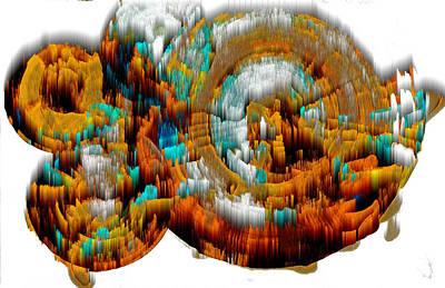 Digital Art - Digital Ghost Sphere 994.042312svwsc by Kris Haas