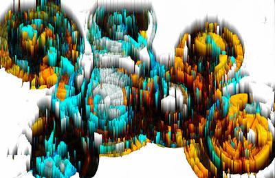 Digital Art - Digital Ghost Sphere 995.042312svsvwsc by Kris Haas