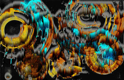 Digital Art - Digital Ghost Sphere Circle 992.042212ssvscw4scwscwscwh by Kris Haas