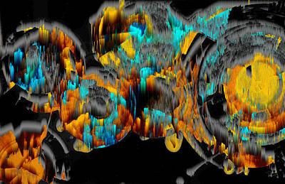 Digital Art - Digital Ghost Sphere Circle 993.042312svswscwscwh by Kris Haas