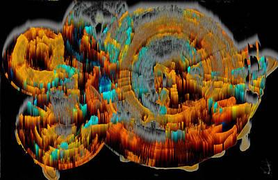 Digital Art - Digital Ghost Sphere Circle 994.042312svwscscwh by Kris Haas