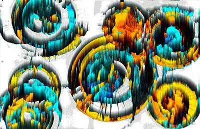Digital Art - Digital Ghost Sphere Circle 996.042312svsscwsc by Kris Haas