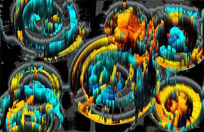Digital Art - Digital Ghost Sphere Circle 996.042312svsscwscscwh by Kris Haas