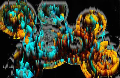 Digital Art - Digital Ghost Sphere Circles 995.042312svsvwscscwh by Kris Haas