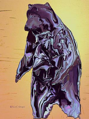 Grizzly Digital Art - Digital Grizzly 1 by Kae Cheatham