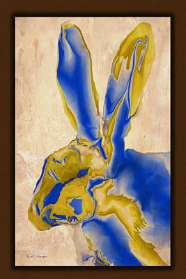 Digital Hare Art Print by Kae Cheatham
