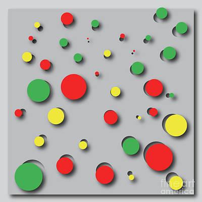 Digital Art - Digital Holes by Benjamin Harte