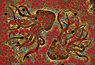 Digital Art - Digital Jellyfish 2 by Megan Walsh