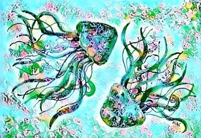 Digital Art - Digital Jellyfish 3 by Megan Walsh
