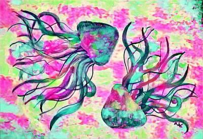 Digital Art - Digital Jellyfish 4 by Megan Walsh