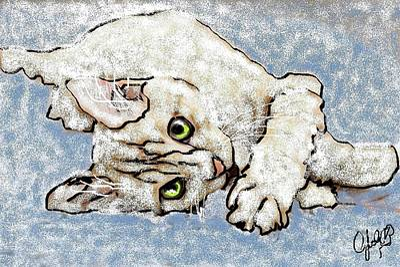 Wall Art - Digital Art - Digital Kitty by Cybele Chaves