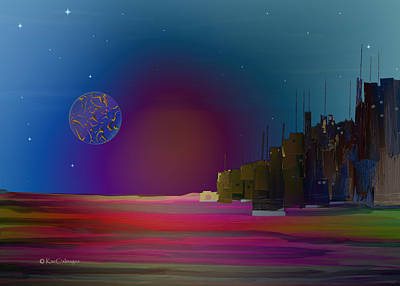 Digital Art - Digital City Landscape 4 by Kae Cheatham