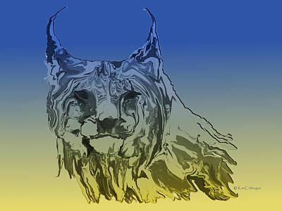 Digital Art - Digital Lynx 2 by Kae Cheatham
