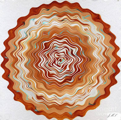 Painting - Digital Mandala 21 by Julia Stubbe
