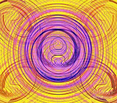 Digital Art - Digital Mandala by Yali Shi