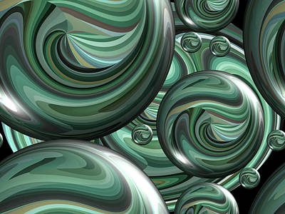 Photograph - Digital Marbles by Kathy K McClellan