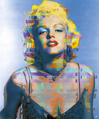 Painting - Digital Marilyn Monroe  by Tony Rubino