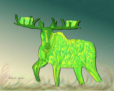 Digital Art - Digital Moose #2 by Kae Cheatham