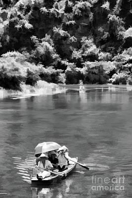 Photograph - Digital Paint Black Vietnam  by Chuck Kuhn