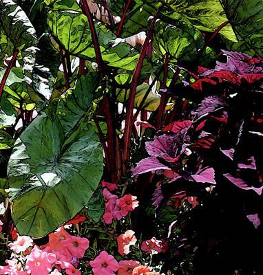 Photograph - Digital Painting The Garden 2919 Dp_2 by Steven Ward